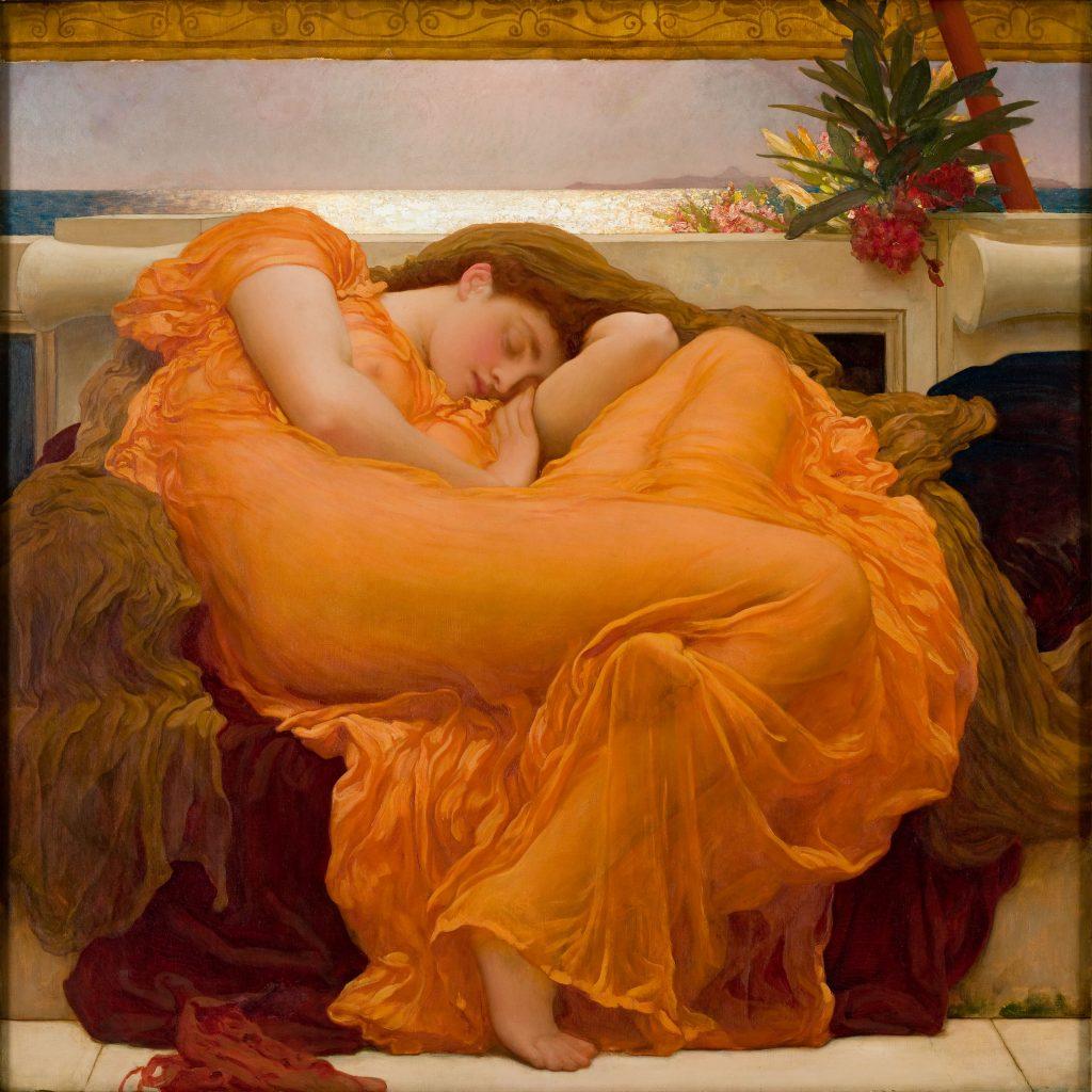 Arte prerrafaelita: Flaming June de Frederic Lord Leighton