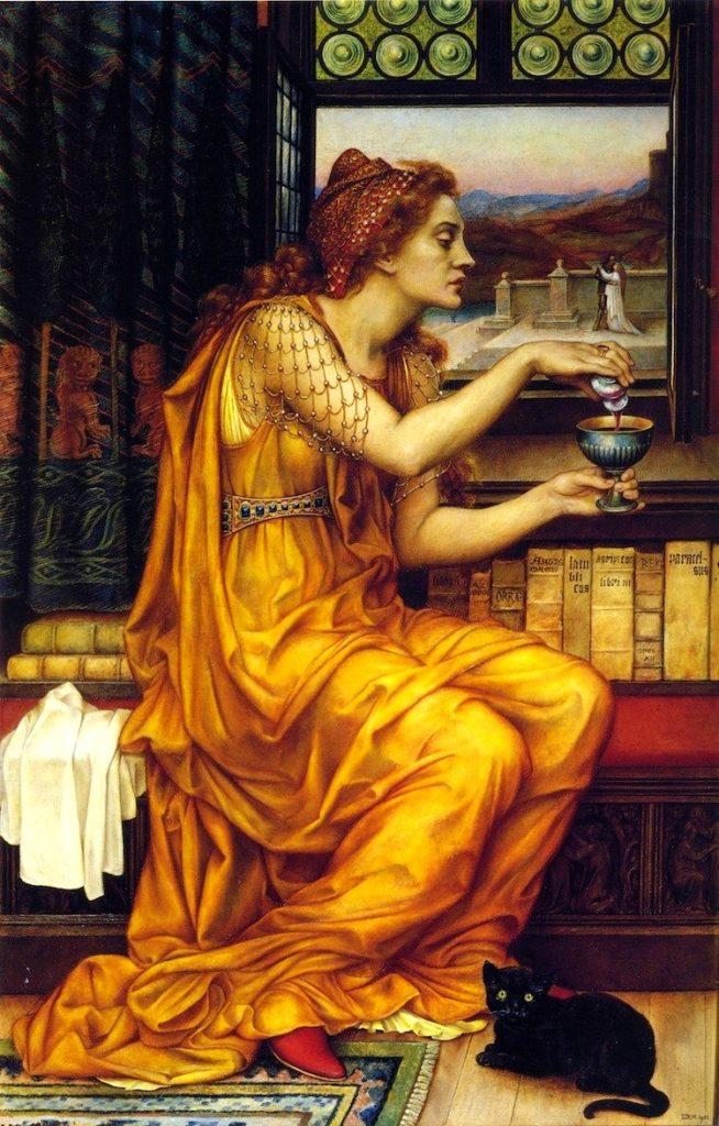 Arte prerrafaelita: The love potion de Evelyn de Morgan