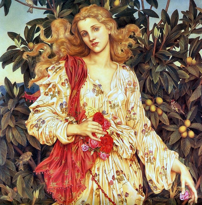 Arte prerrafaelita: Flora de Evelyn de Morgan