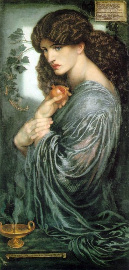 El destino de Perséfone (Proserpina de Dante Gabriel Rossetti)