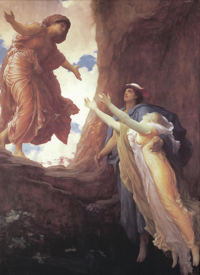 El destino de Perséfone (El retorno de Perséfone de Frederic Lord Leighton)