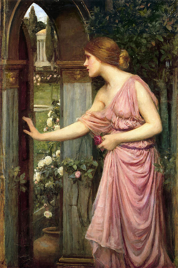 Pisque entrando en el jardín de Cupido de John William Waterhouse