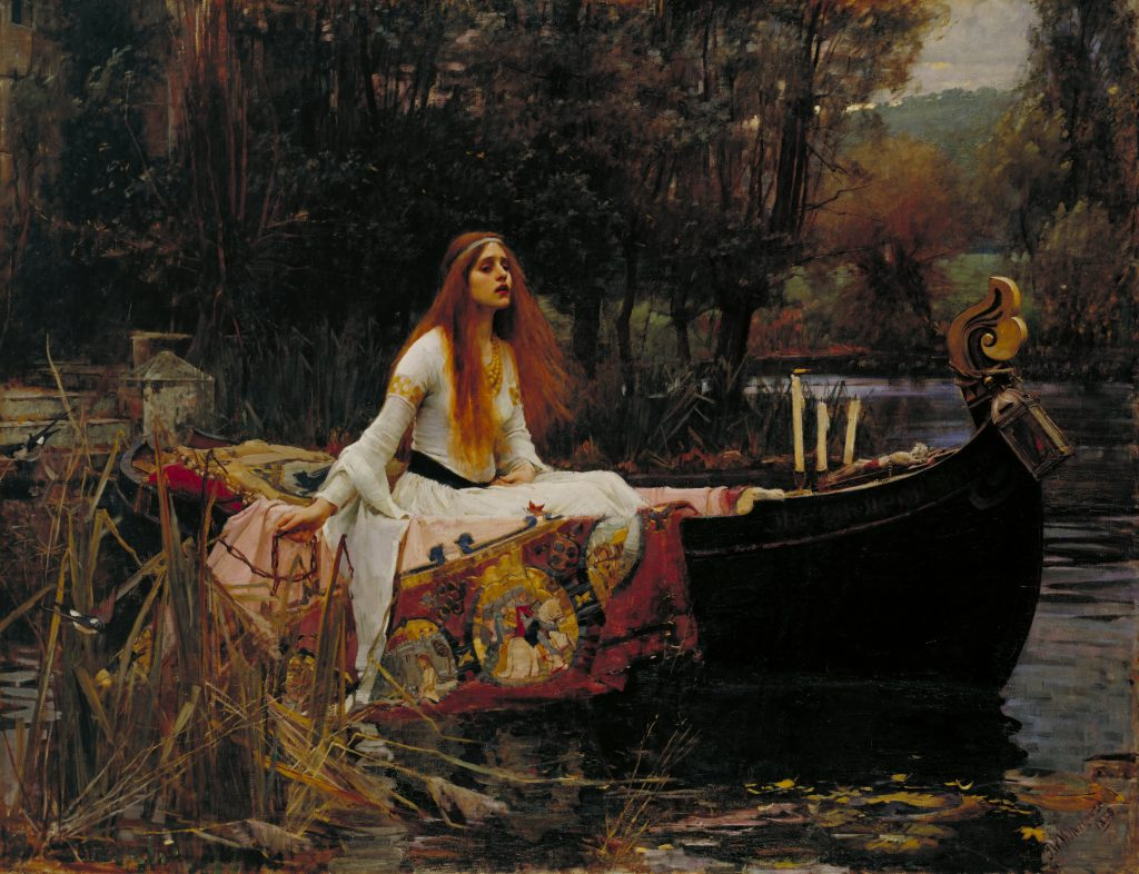 La dama de Shalott de John William Waterhouse