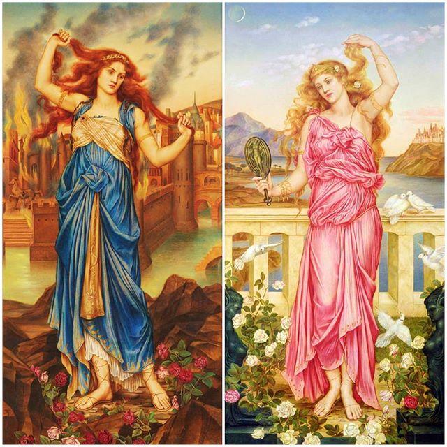 Cassandra y Helena de Troya de Evelyn de Morgan