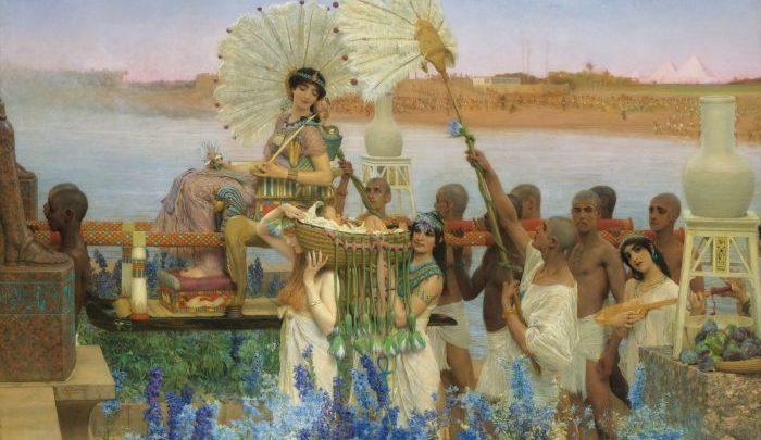 Lawrence Alma-Tadema: El hallazgo de Moisés